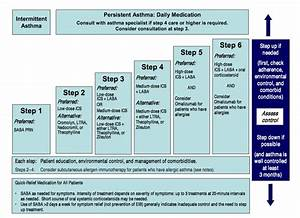 Asthma Classification And Treatment Chart Asthma Severity And Initiating Treatment For Ages 12 Years