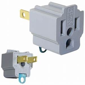 Ac Outlet Adapter 3 Prong Convert To 2 Blade Grounding