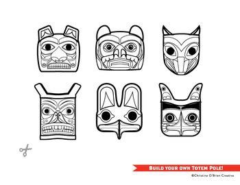 Totem Pole Bear Template by Build Your Own Totem Pole Craft Printable Pacific