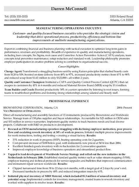 Best Vp Engineering Resume by Exle Resume Exle Vp Resume