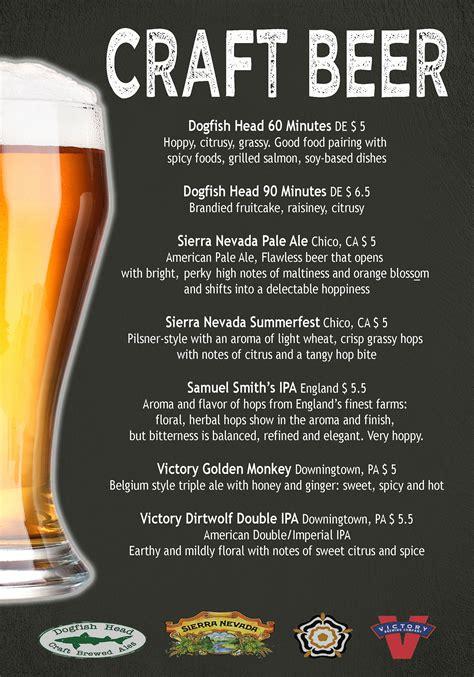 Craft Beer Menu on Behance