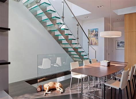 enthralling glass staircases  add sculptural style