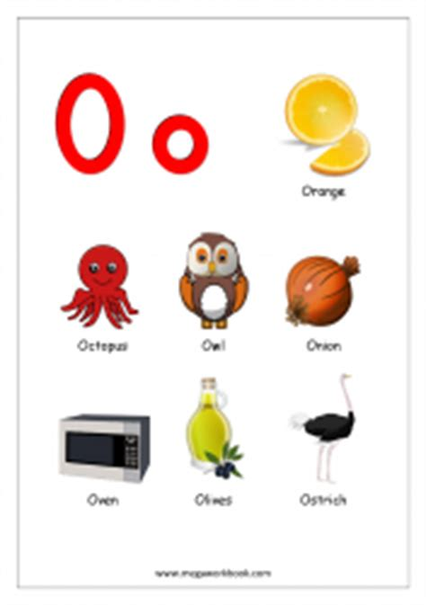 free printable alphabet reading pages things that start 338 | Objects Starting With Alphabet O