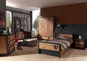 chambre enfant complete contemporaine industry zd2 ch ado With superb meuble style maison du monde 15 miroir de style industriel design