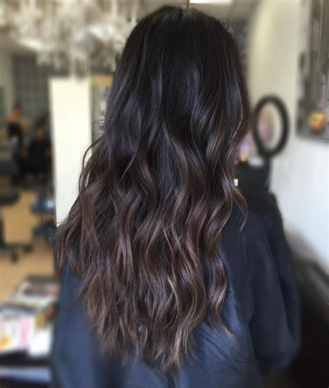 Black Hair With Brown by Brown Hair With Subtle Brown Balayage Hair