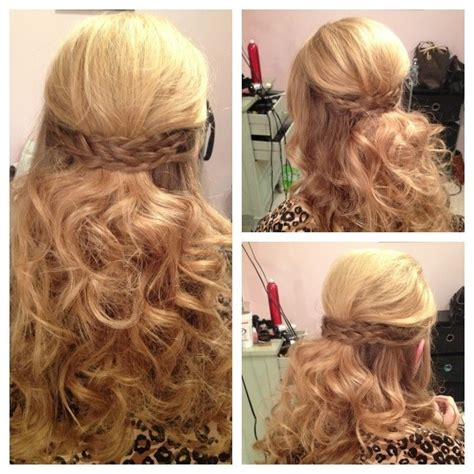 Hairstyles With Braids And Curls by Side Braids With Curls