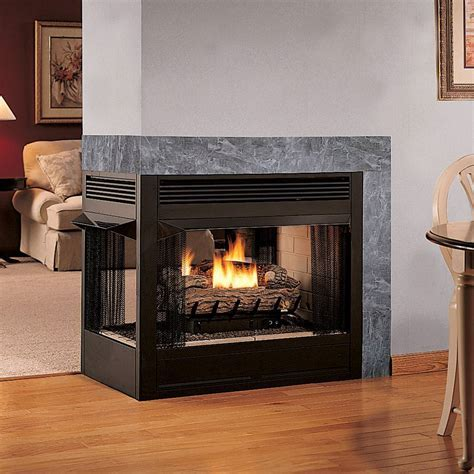 Modern Design Living Room with Double Sided Ventless Gas