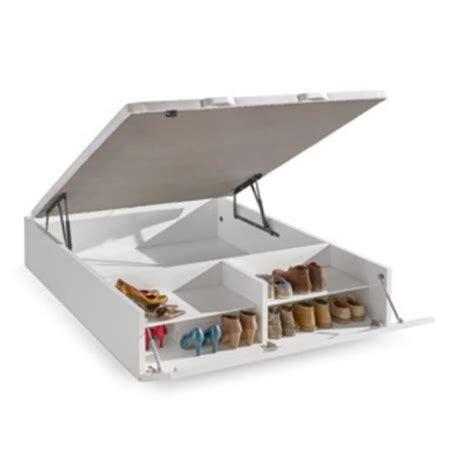 coffre de toit moins cher sommier coffre en bois shoesen 160x200 blanc achat vente sommier cdiscount