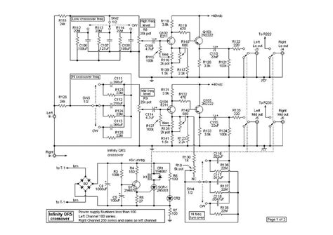 Dbx Crossover Wiring Diagram by Infinity Qsr Crossover Schematic Service Manual