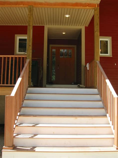 front steps to house this new house the maple forest house plan customized building a custom home in a pre fab world