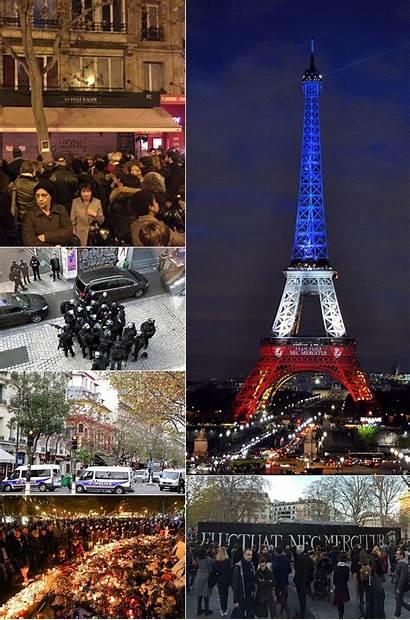 Paris Attacks November Montage France Wikipedia Left