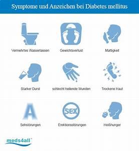 symptome diabetes mellitus typ 2