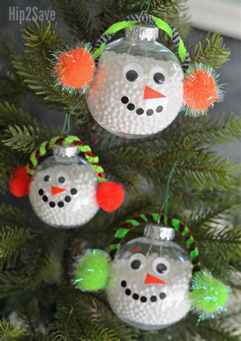 diy simple snowman christmas ornament hipsave