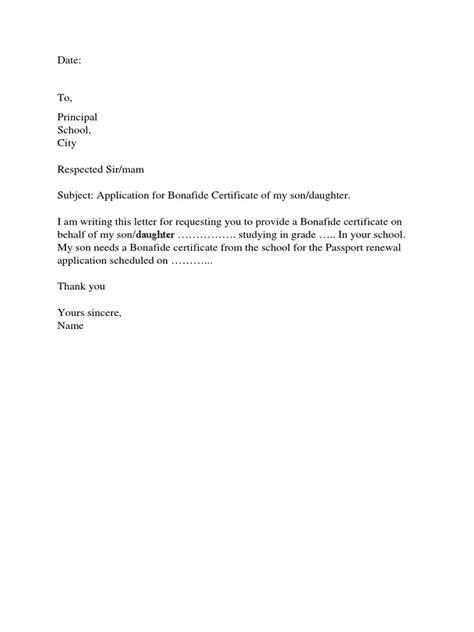 application  leave certificate letter