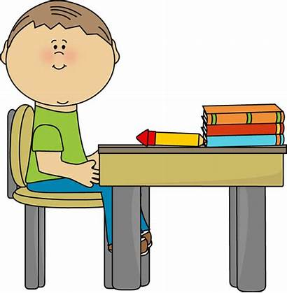 Clipart Working Desk Student Clip Clipground