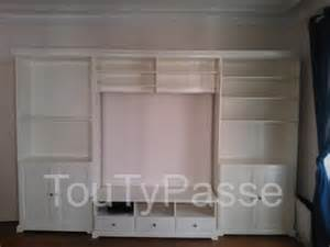 meuble t 233 l 233 avec rangement 2 biblioth 232 ques blanc ikea liatorp 17 batignolles