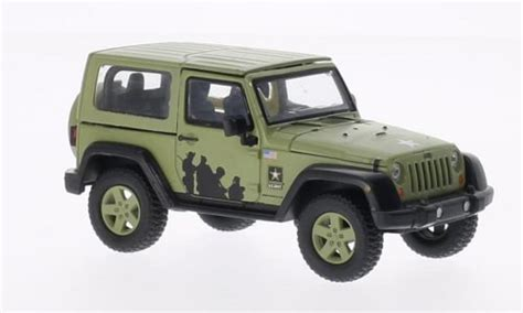 jeep wrangler military green jeep wrangler us army matt green 2012 greenlight diecast