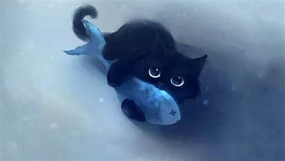 Fish Cat Animals Anime Cats Desktop Wallpapers