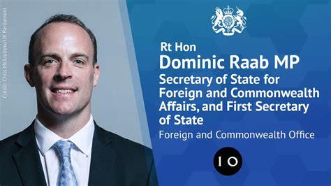Hon Dominic Raab dominic raab appointed Secretary Foreign ...