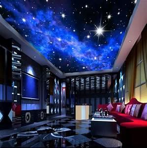 Murals 3D Star Nebula Night Sky Wall Painting Ceiling ...