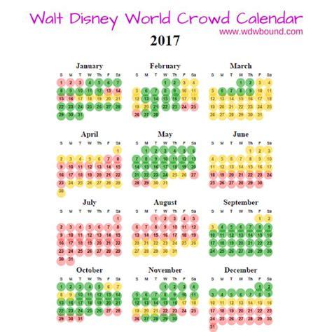 Disney World Crowd Calendar 2017 Walt Disney World Crowd Calendar Walt Disney World