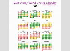 2017 Walt Disney World Crowd Calendar Walt Disney World
