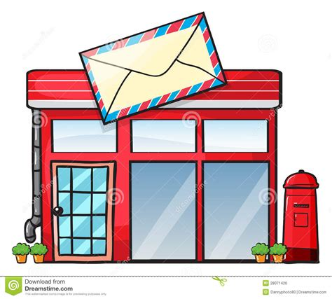 bureau post it a post office stock illustration illustration of exterior