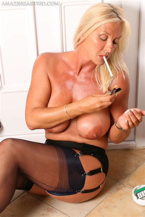 Aa161155 In Gallery Amazing Blonde Milf Astrid Smoking