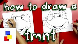 How To Draw A Teenage Mutant Ninja Turtle Face Youtube