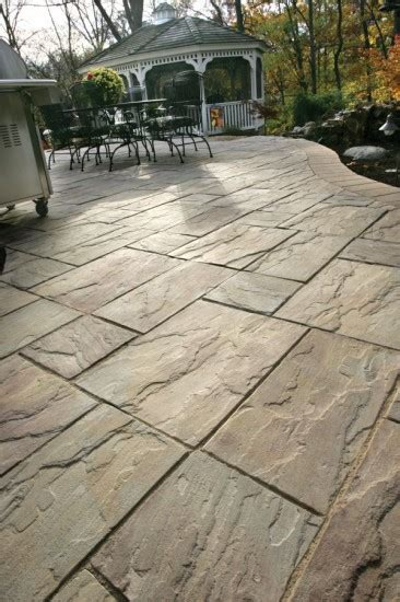 Unilock Patio Pavers - unilock patio with rivenstone paver photos