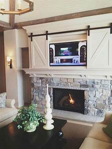 tv frame ideas a way to personalize your home without With barn doors to hide tv