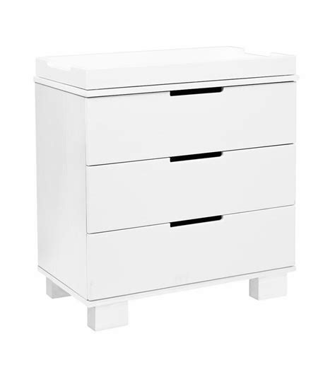 babyletto modo dresser white babyletto modo 3 drawer changer dresser kd w removable