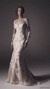 Amare couture spring 2016 wedding dresses wedding inspirasi for Lace fit and flare wedding dress with sleeves