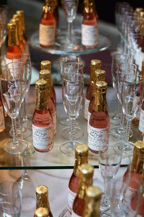 wedding favors personalized sparkling cider wine
