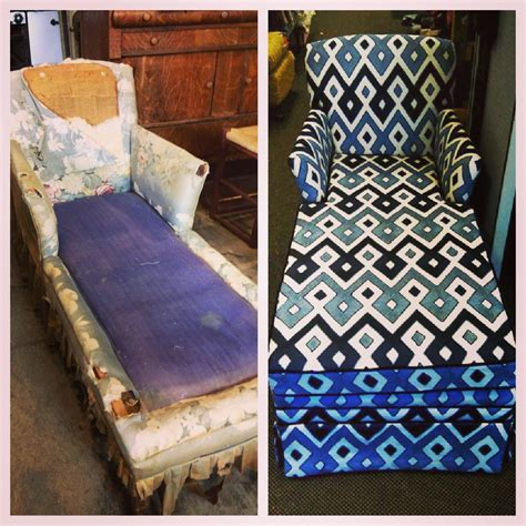 A Very Dramatic Before & After Chaise Lounge Project