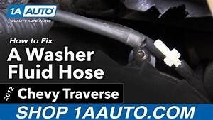 How To Fix A Windshield Washer Fluid Hose 09
