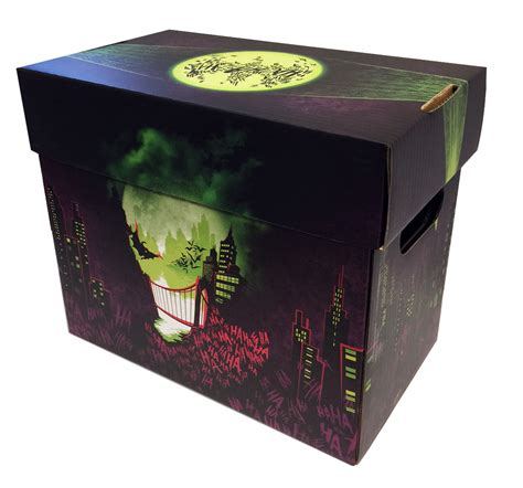 joker art comic book storage box city  smiles