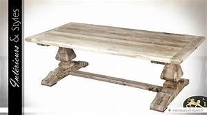 Table En Bois Massif Ancienne : table basse rustique en acacia massif patine blanc antique int rieurs styles ~ Teatrodelosmanantiales.com Idées de Décoration