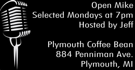 884 penniman ave, plymouth (mi), 48170, united states. Plymouth Coffee Bean - Plymouth, MI (openmikes.org)