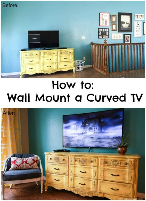 Hang L On Wall by Remodelaholic How To Hang A Curved Tv On The Wall