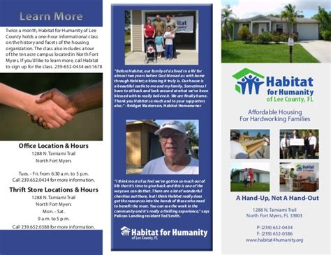 habitat for humanity brochure 2009