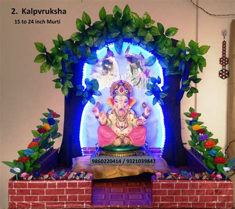 eco friendly ganpati makhar decorations badlapur om