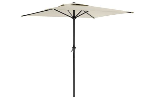 square patio umbrella in warm white