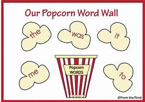 popcorn words template - Bing Images | word work | Pinterest