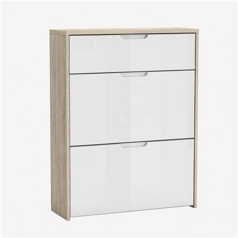rangement pour tiroir cuisine meuble à chaussures 2 battants 1 tiroir longueur 73 cm berlin