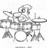 Jazz Coloring Band Outline Instruments Cartoon Template Sketch Drummer Rock sketch template
