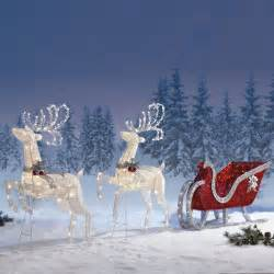 sleigh outdoor indoor decoration premium quality item reindeer twinkling