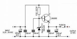 12 volts voltage regulator for car circuit diagram world With lm2575 switching regulator 12 12v for solar