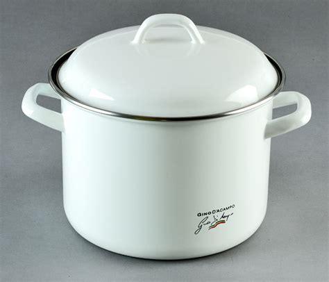 enamel stock pot gino d aco enamel 22cm stock pot white cookware 3567