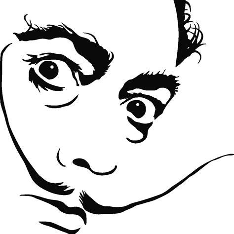 dessin cuisine 3d sticker portrait de salvador dalí stickers musique